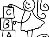 Abc Girl Coloring Page