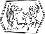 Abraham And Sarah Donkey Coloring Page