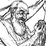 Abraham And Sarah Kid Sketch Coloring Page