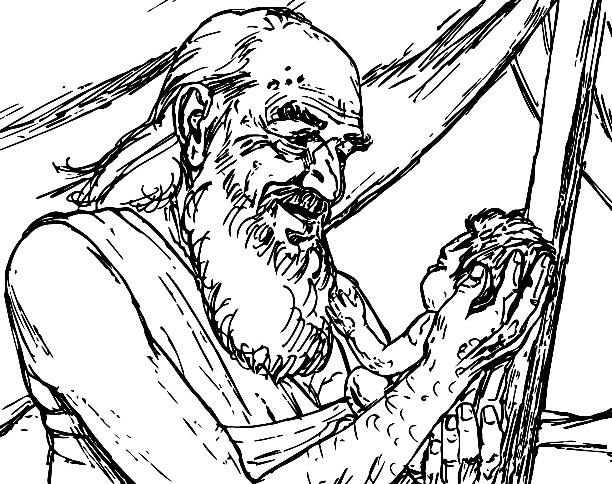 abraham and sarah kid sketch coloring page wecoloringpage