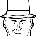 Abraham Lincoln Face President Coloring Page