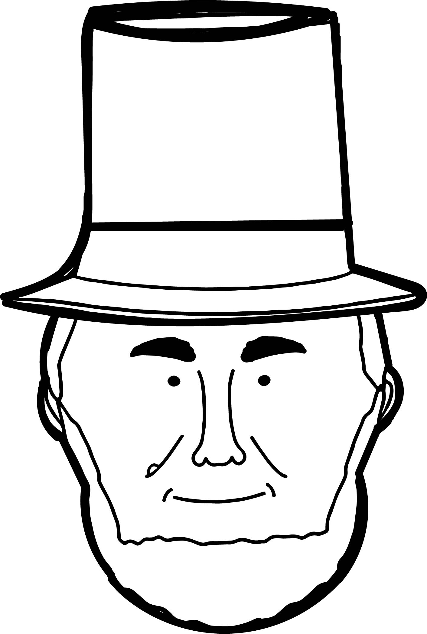 coloring pages abraham lincoln - abraham lincoln face president coloring page