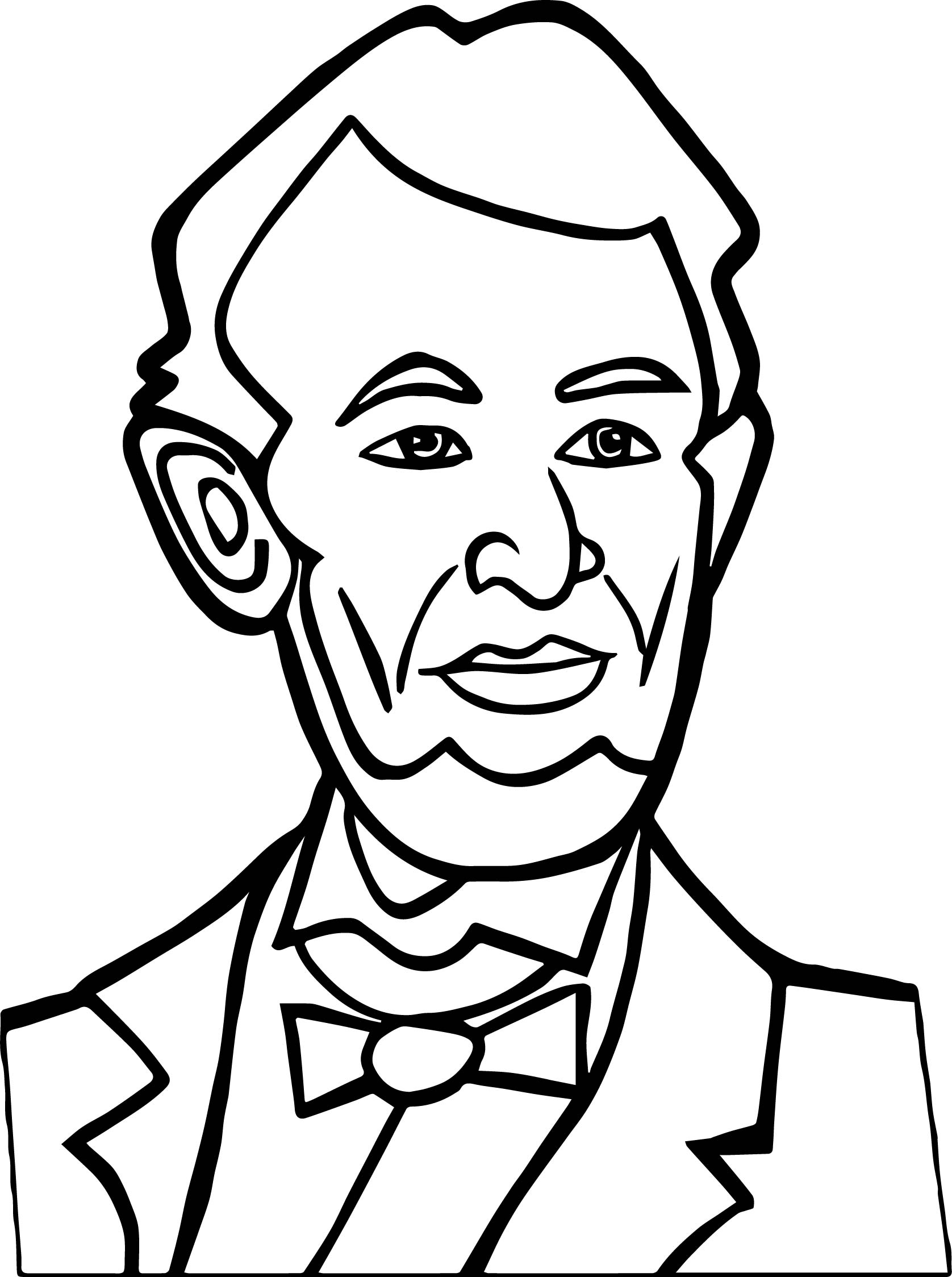 abraham lincoln president good coloring page wecoloringpage