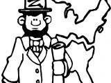 Abraham Lincoln President Map Coloring Page
