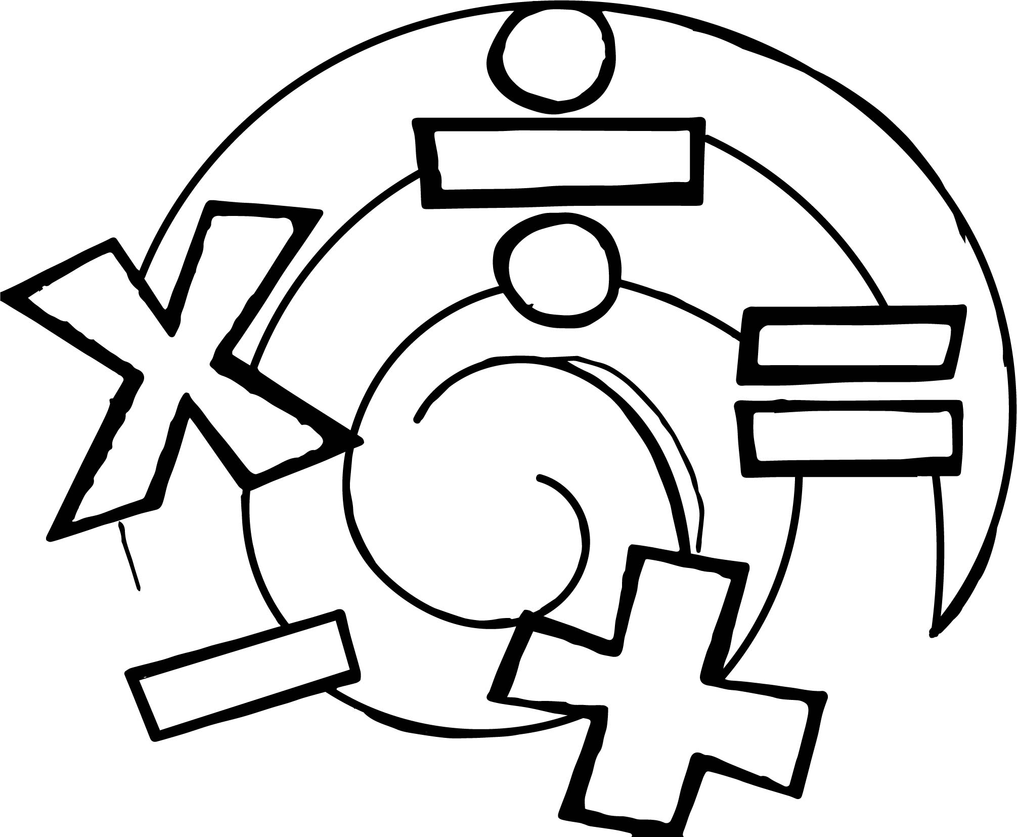 Addition Operation Coloring Page