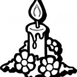 Advent Flower Light Coloring Page