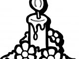 Advent Flower Light Coloring Pages