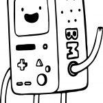 Adventure Time Tetris Cartoon Coloring Page