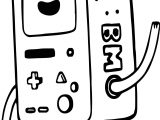 Adventure Time Tetris Cartoon Coloring Page