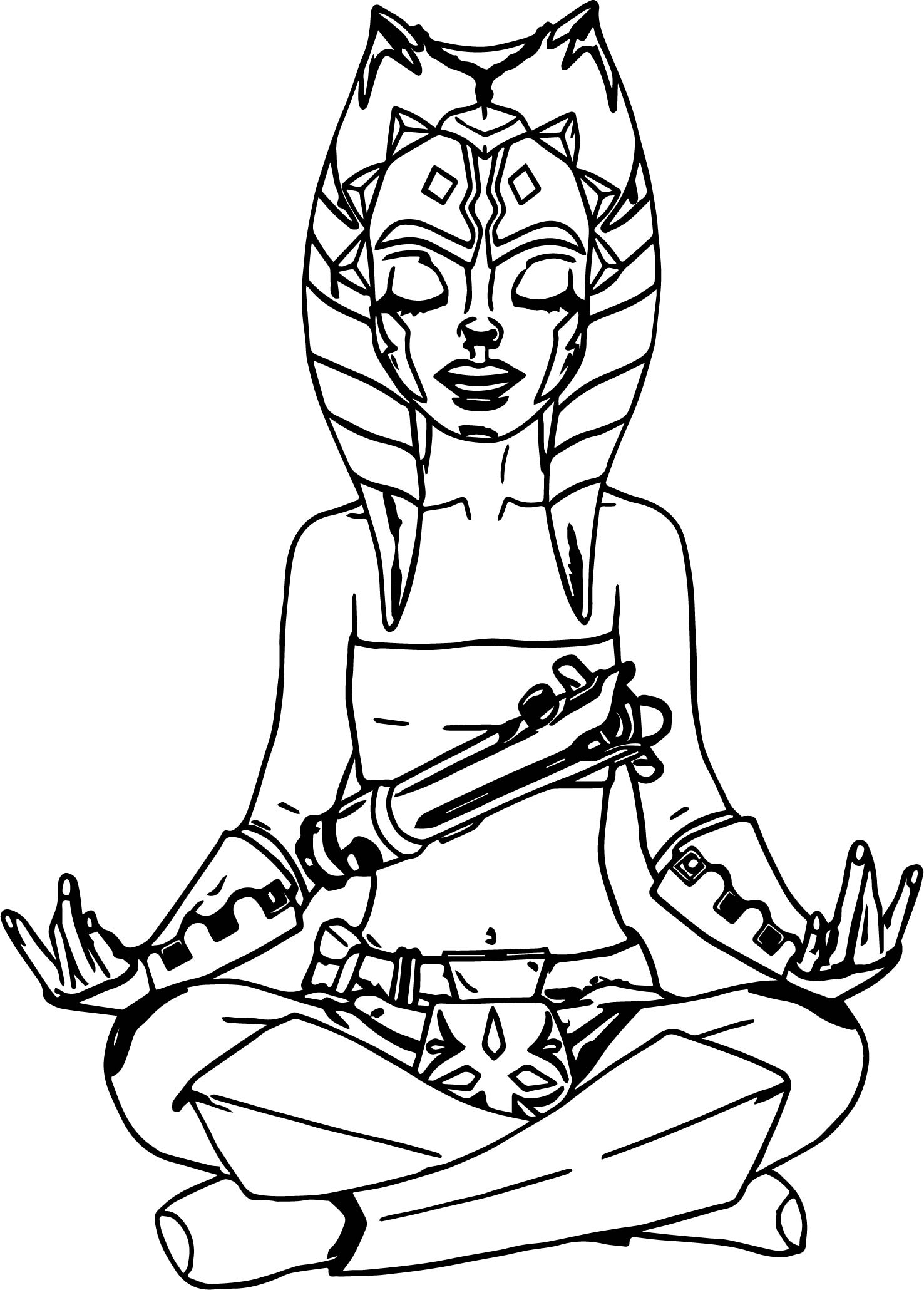 Star Wars Clone Wars Ahsoka Coloring Pages