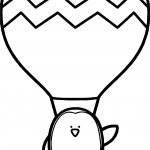Air Balloon Penguin Coloring Page