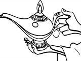 Aladdin Lamb Coloring Page