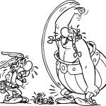 Albert Uderzo Canvas BD Decoration Asterix Death Laugh Coloring Page