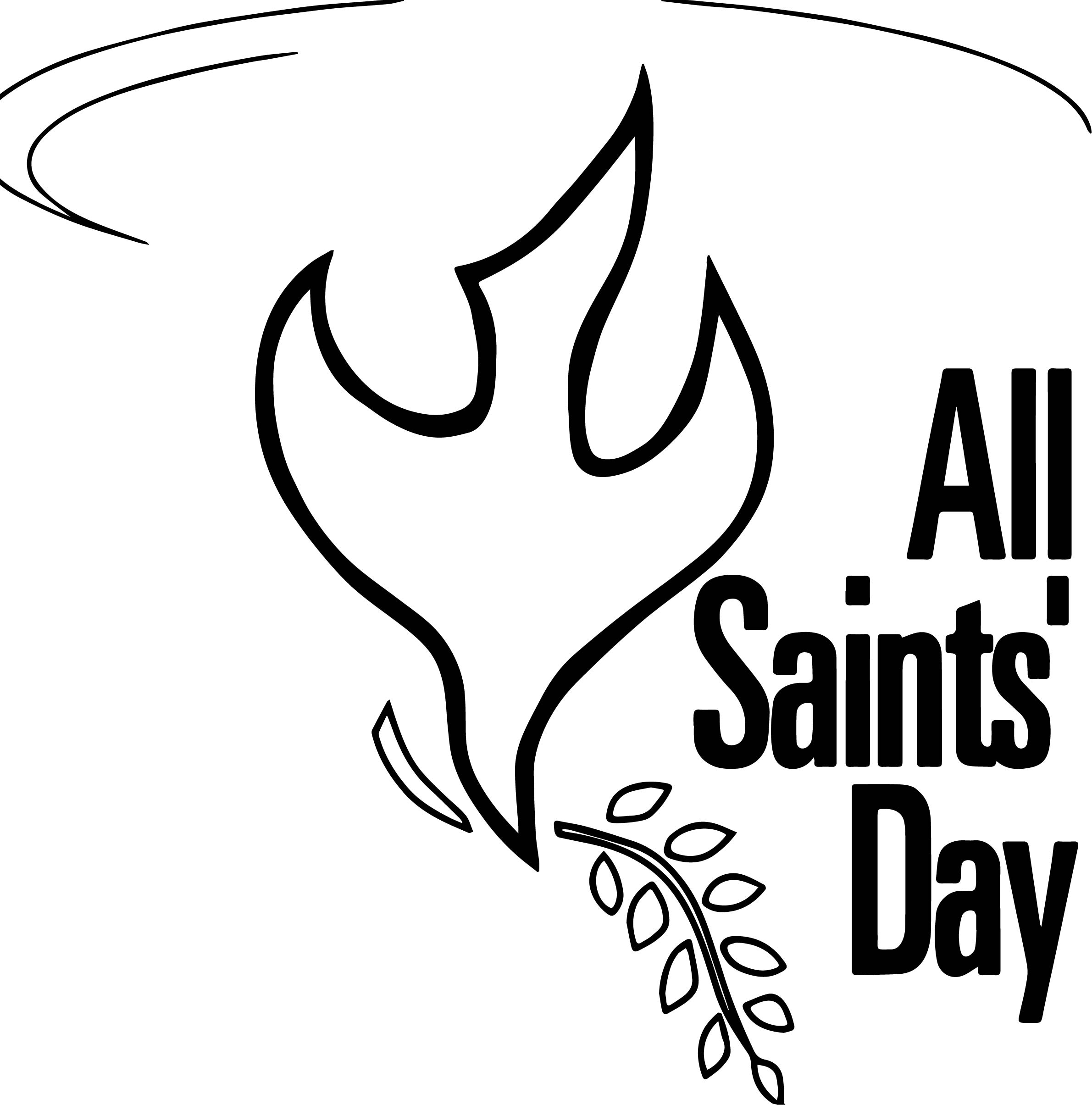 All saint day bird shape coloring page for All saints day coloring pages