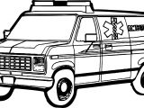 Ambulance Image Coloring Page