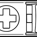 Ambulance Top View Coloring Page