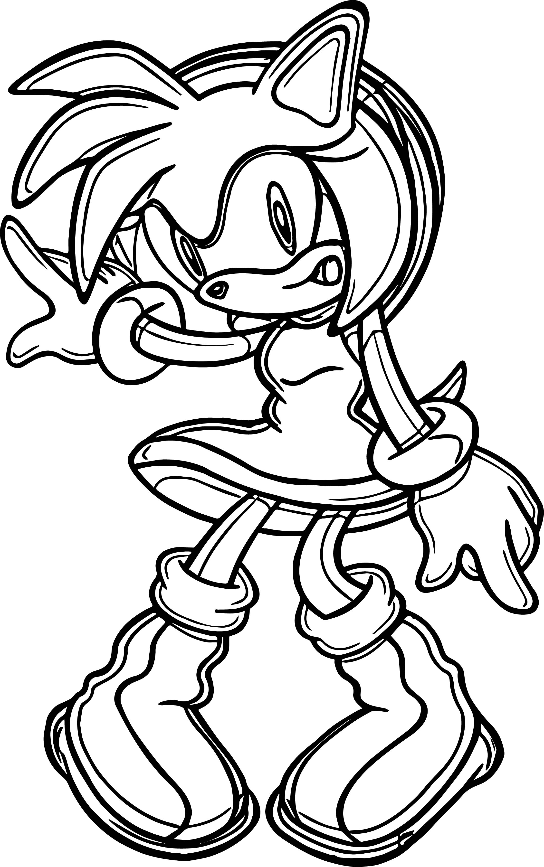 Amy Rose Best Coloring Page  Wecoloringpage