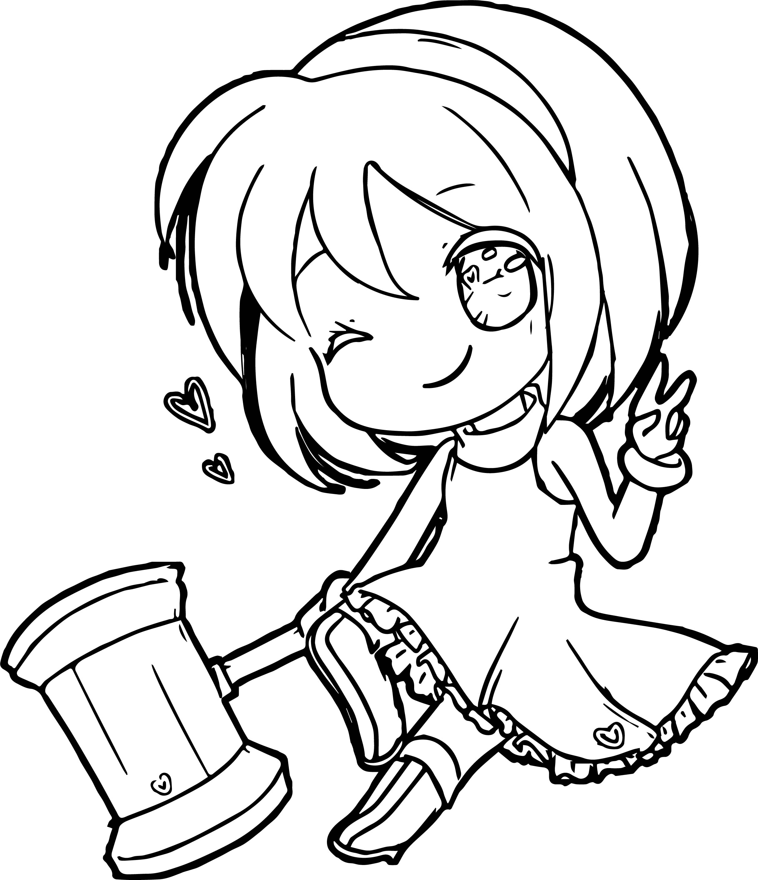Amy Rose Chibi Coloring Page Wecoloringpage