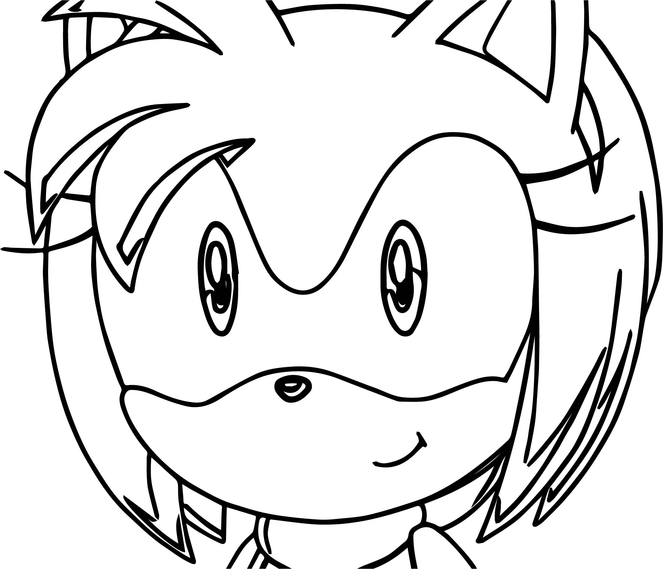 Yellow Sonicexe Coloring Pages