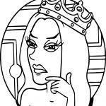 Anastasia Princess Thinking Coloring Page