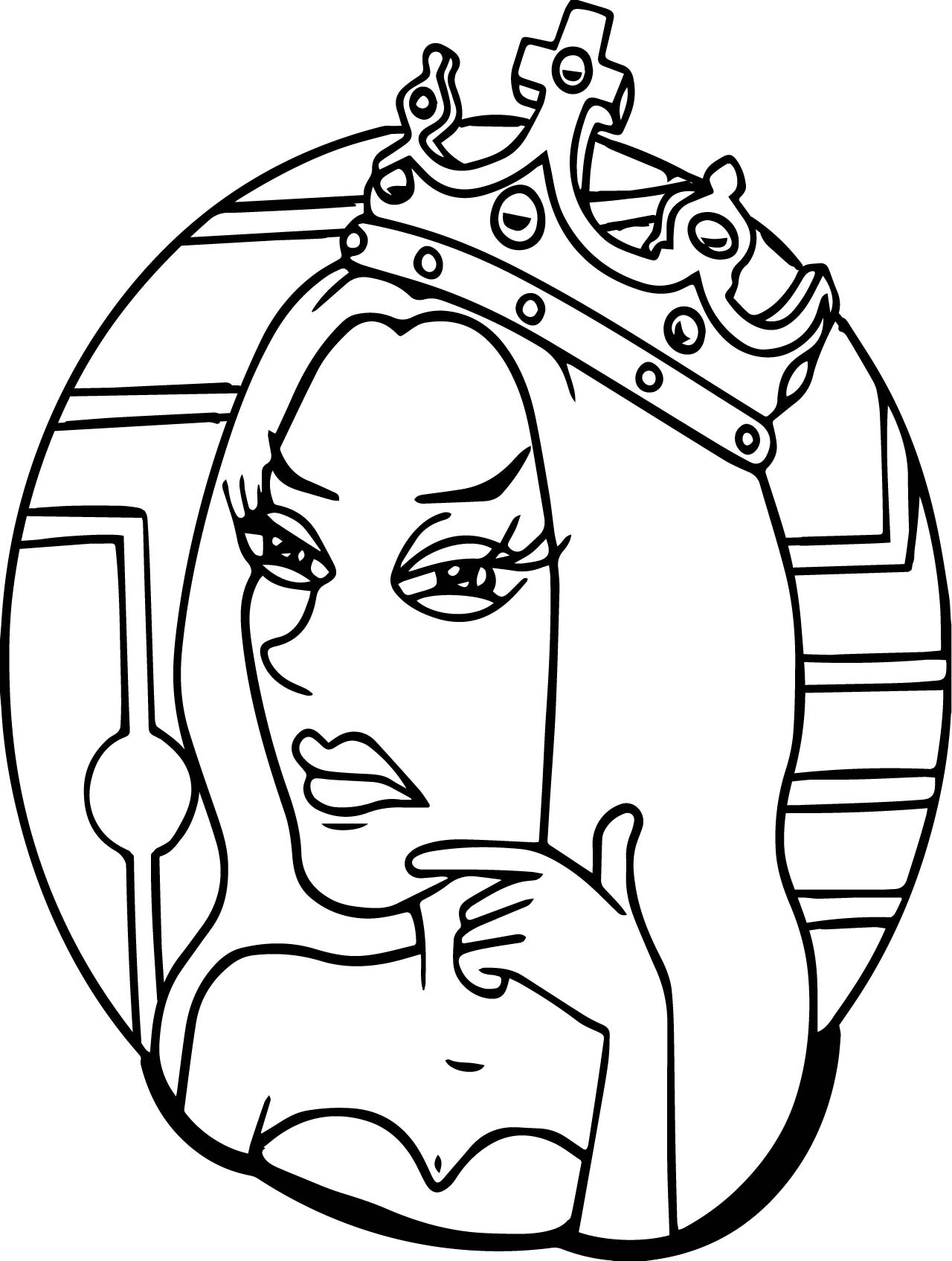 Anastasia Princess Thinking Coloring Page