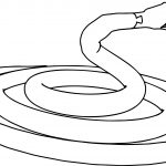 Angry Snake Coloring Page