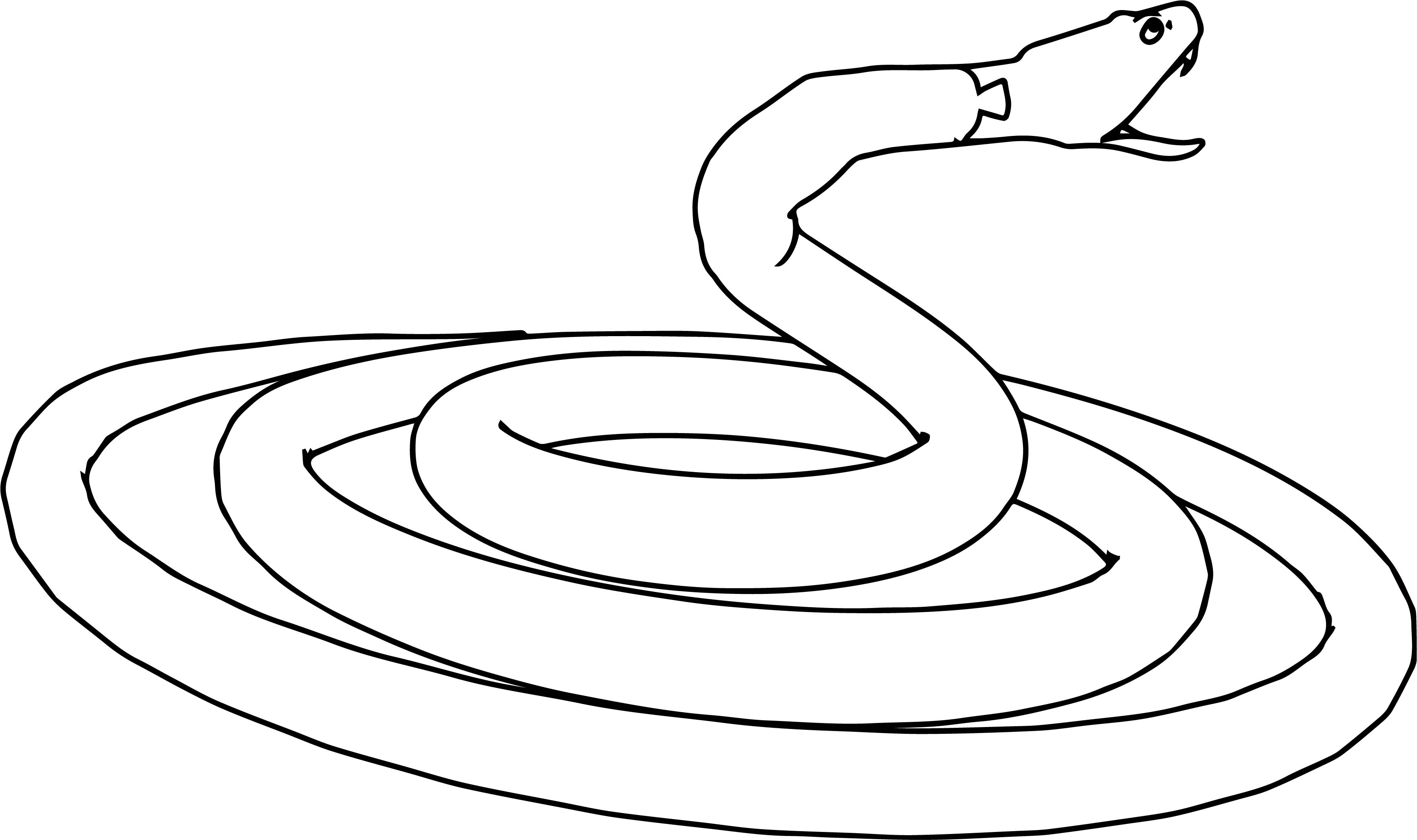 angry snake coloring page wecoloringpage