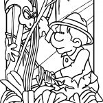 Animal Rainforest Snake Coloring Page