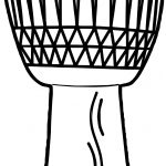 Anonymous African Drum Coloring Page