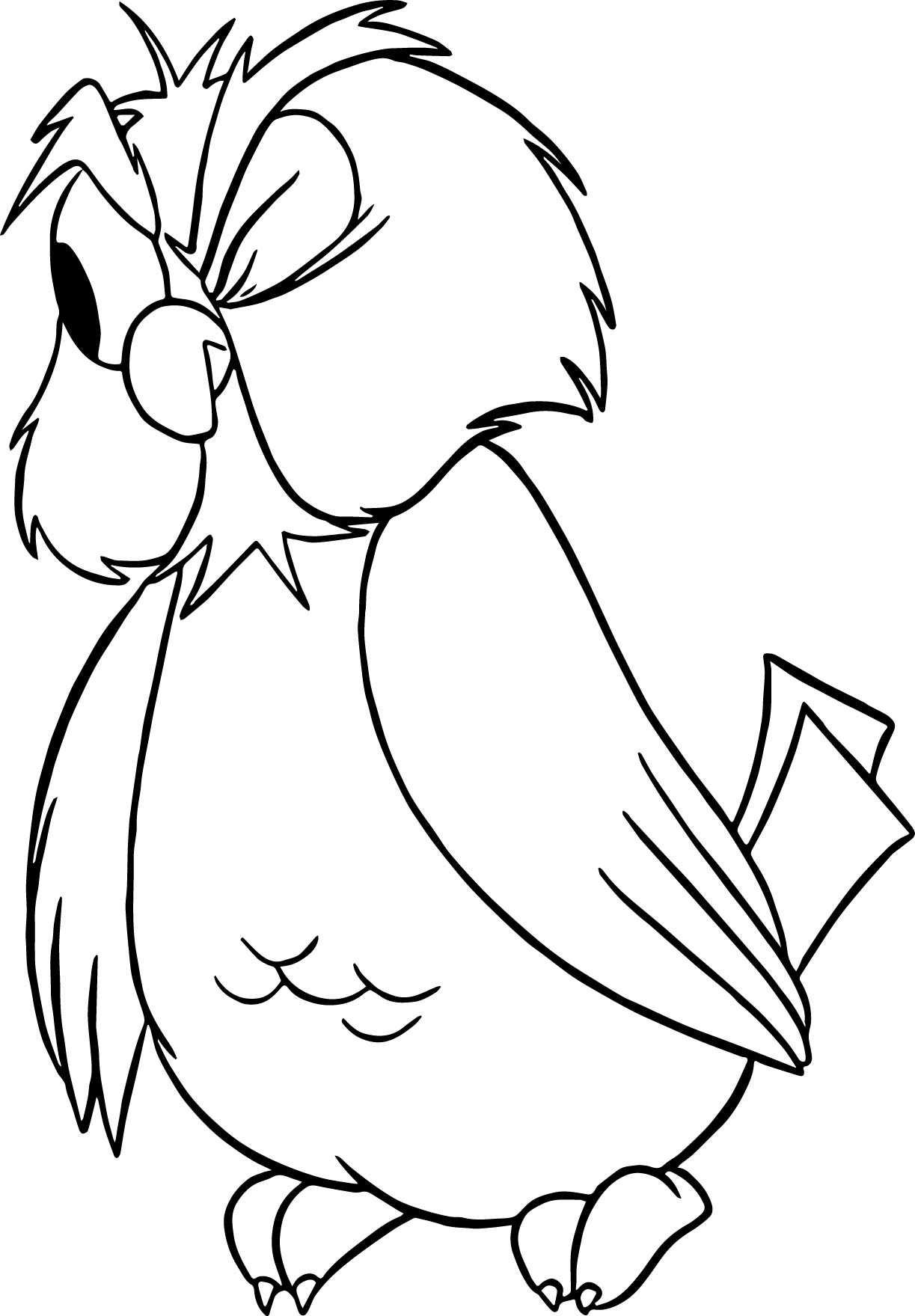 archimedes one eye owl coloring pages