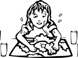 Art Washing Up Coloring Page