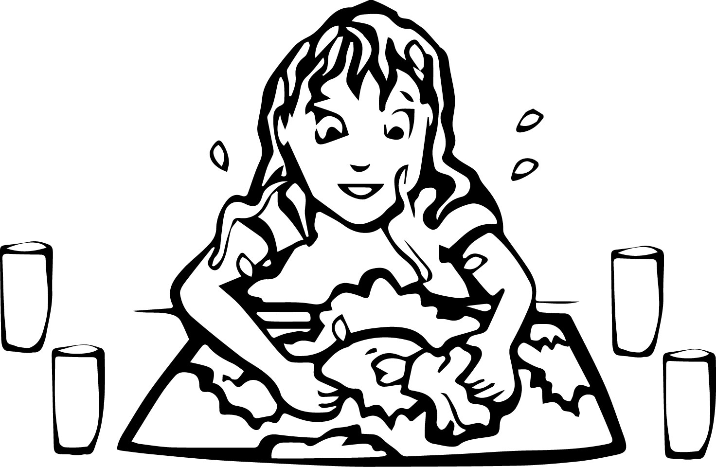 art washing up coloring page wecoloringpage