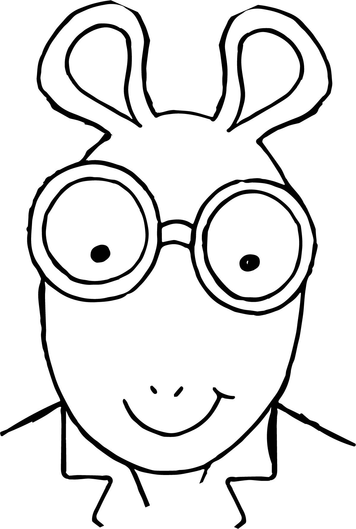 Arthur Face Coloring Page