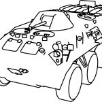 BTR 80 Military Truck Coloring Page
