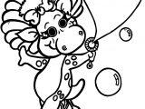 Baby Bop Blows Bubbles Coloring Page