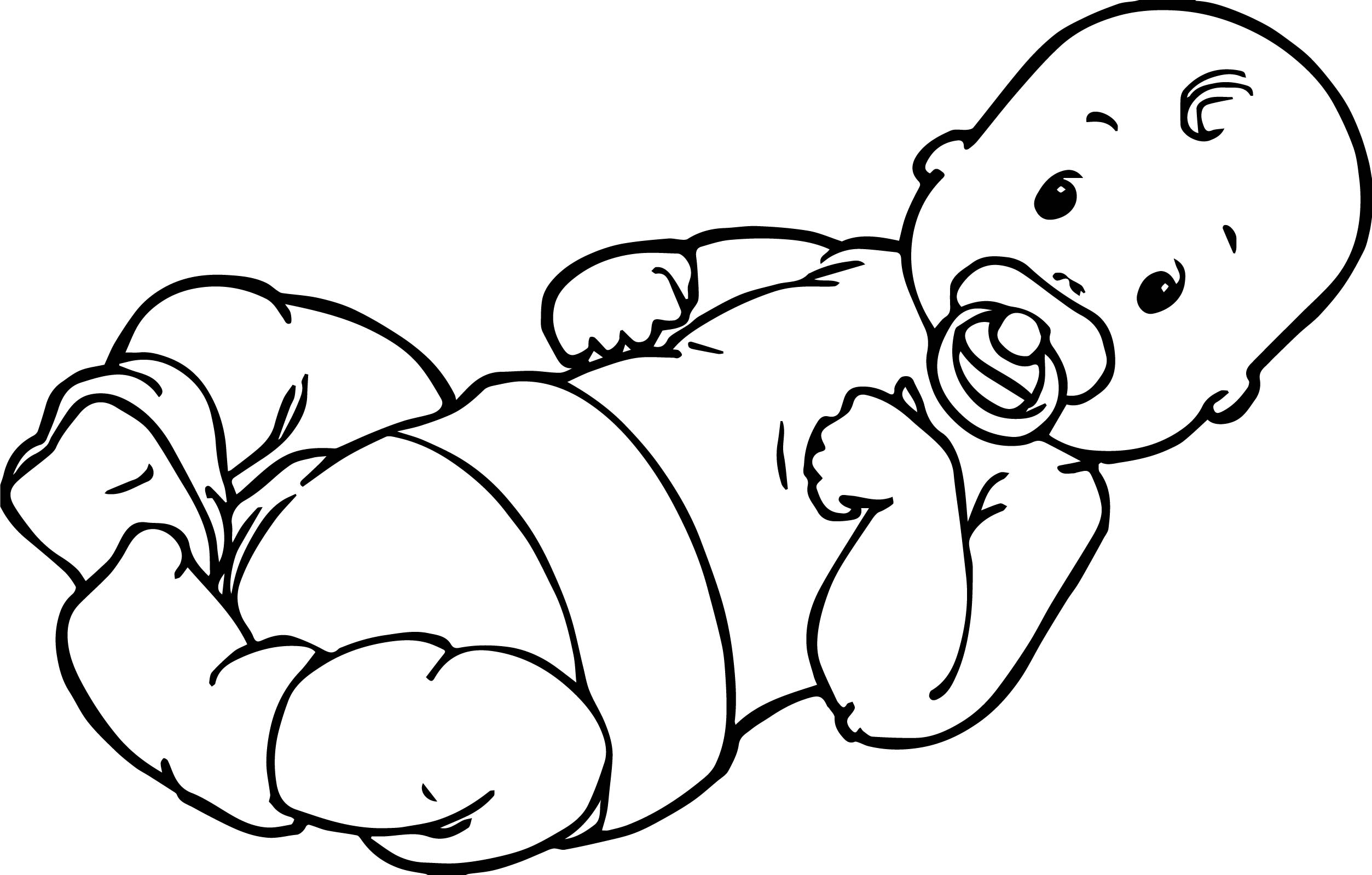 Baby Boy Top Coloring Page