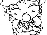 Baby Daisy Bubble Gum Coloring Page