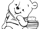 Baby Pooh And Bees Coloring Page