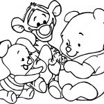 Baby Pooh And Friends Coloring Page