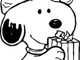 Baby Snoopy Christmas Coloring Page