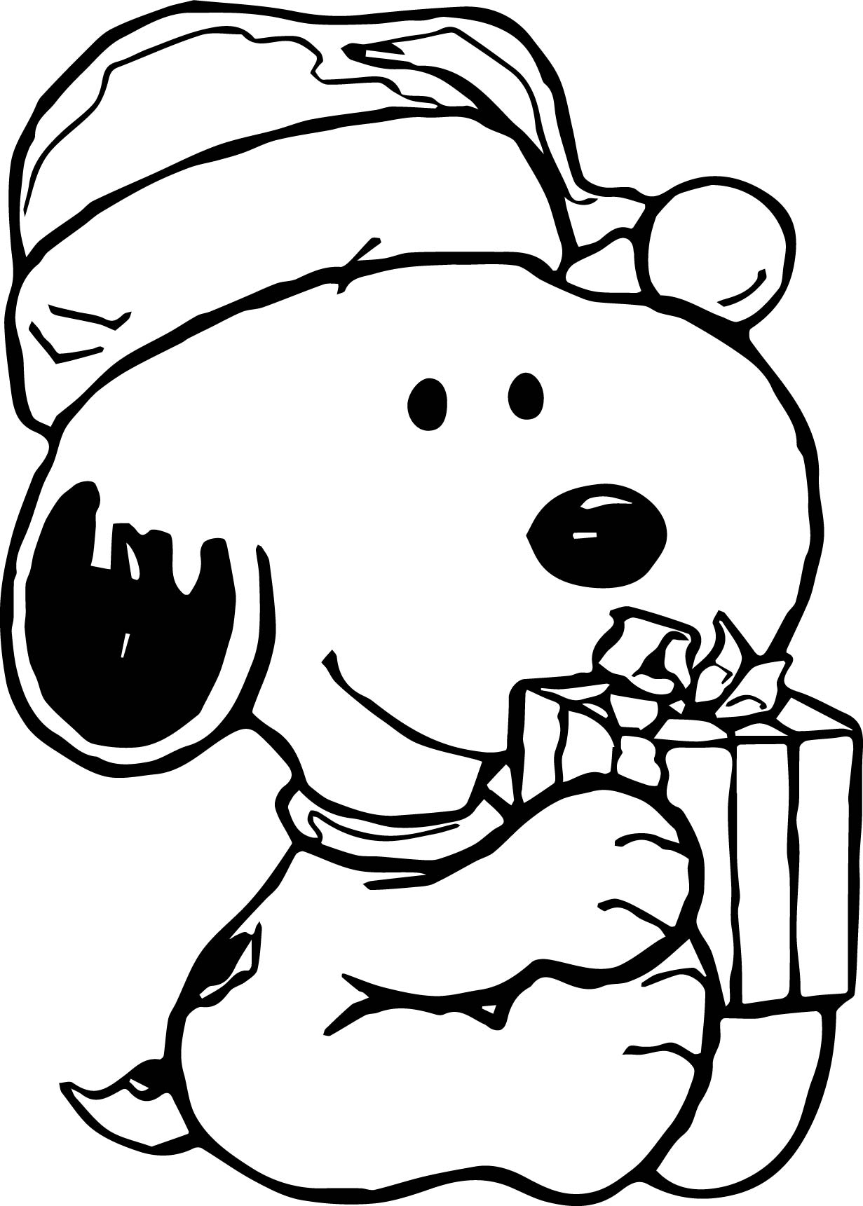 Baby snoopy christmas coloring page for Snoopy coloring page
