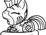 Baby Zecora The Zebra Coloring Page