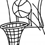 Ball Shot Playing Basketball Coloring Page