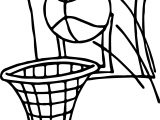 Ball Shot Playing Basketball Coloring Page