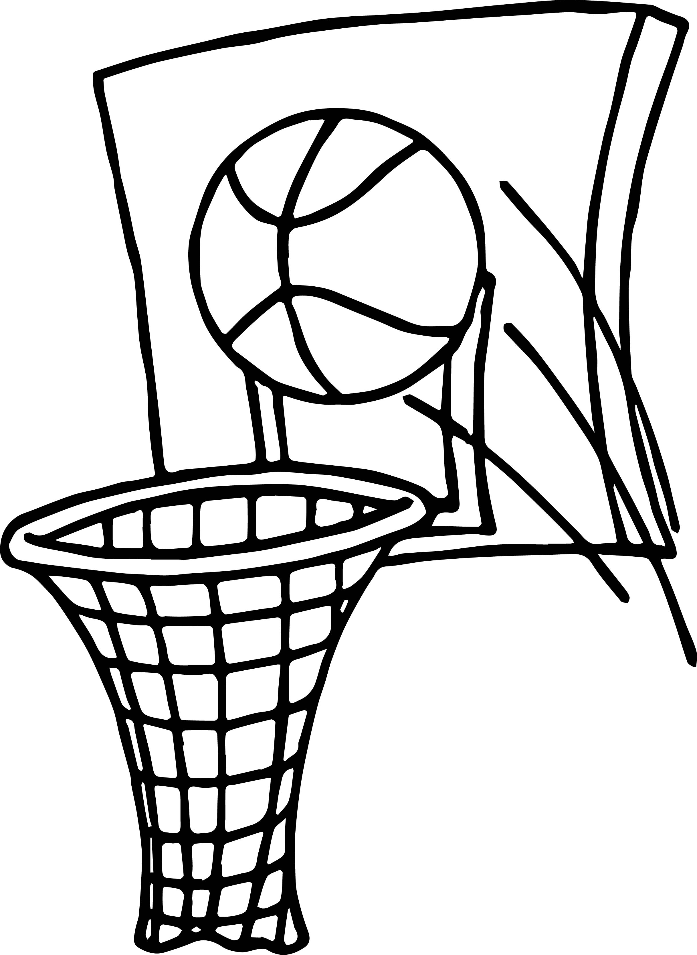 Simple Basketball Coloring Pages Image Absolutely Nba