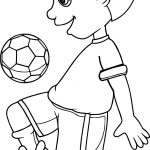 Balls To Bounce Playing Football Coloring Page