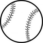 Baseball Ball Coloring Page