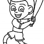 Baseball Child Coloring Page