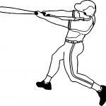 Baseball Kick Ball Playing Baseball Coloring Page