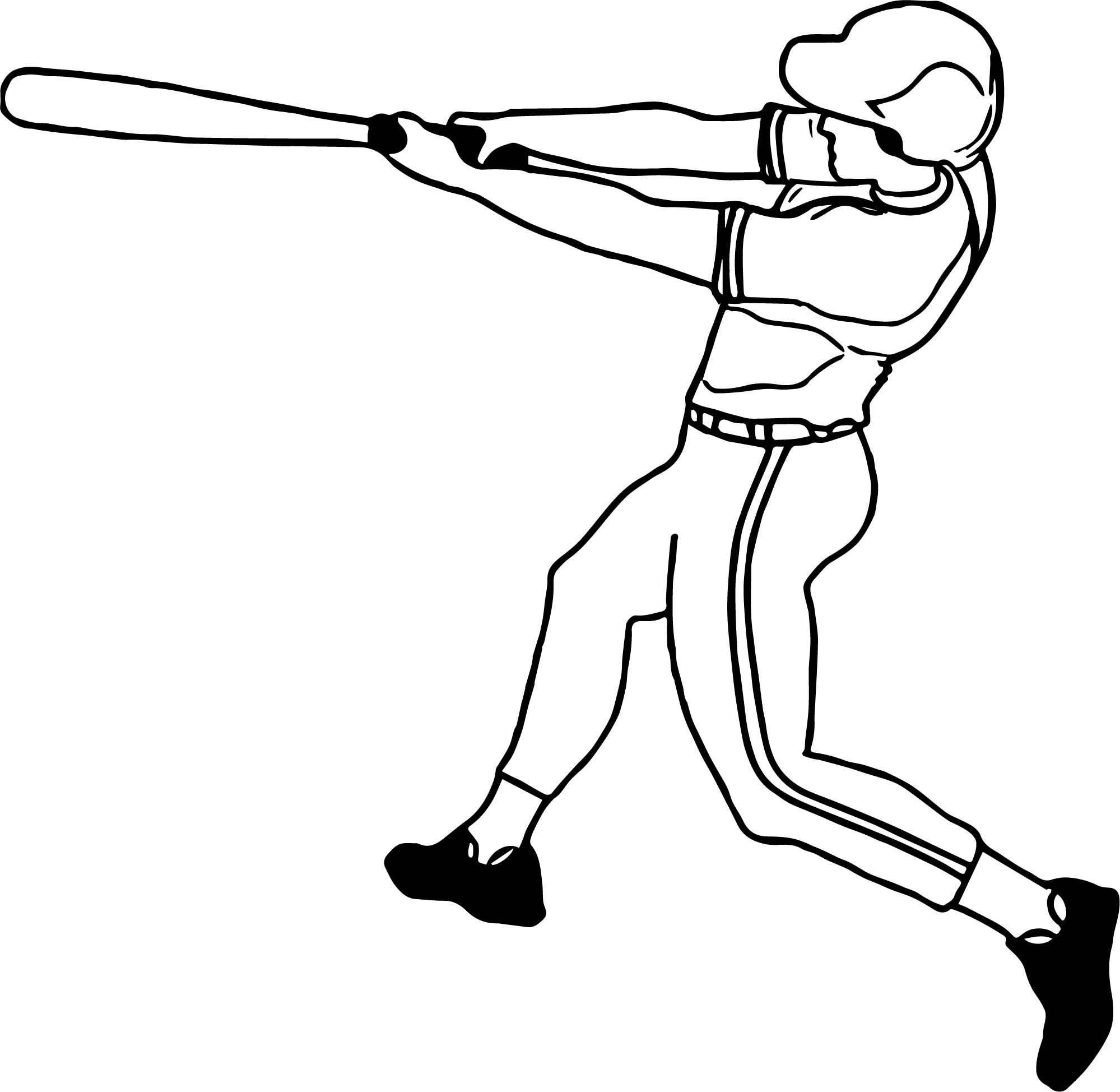 Baseball Kick Ball Playing Baseball Coloring Page Wecoloringpage Com